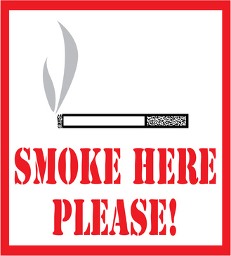 smoke here sign